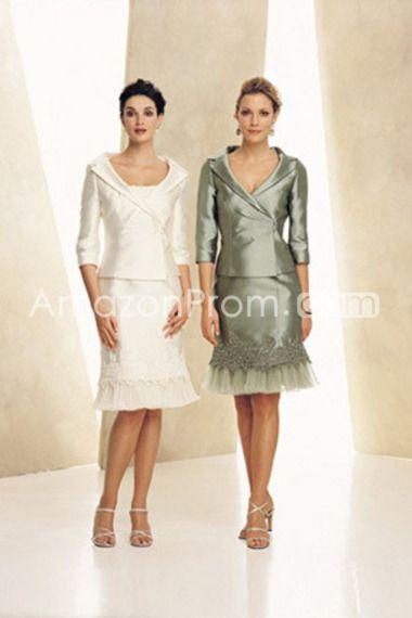Sheath/Column V Neck Knee Length Mother Of The Bride Dresses Under 200