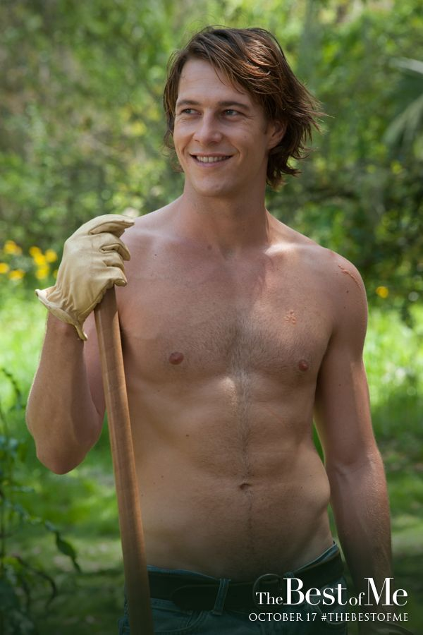 Luke Bracey heats up the big screen as Young Dawson in The Best of Me. This isn't the only scene he's shirtless in! Click through to view the trailer and don't miss The Best of Me in theaters October 17, 2014!