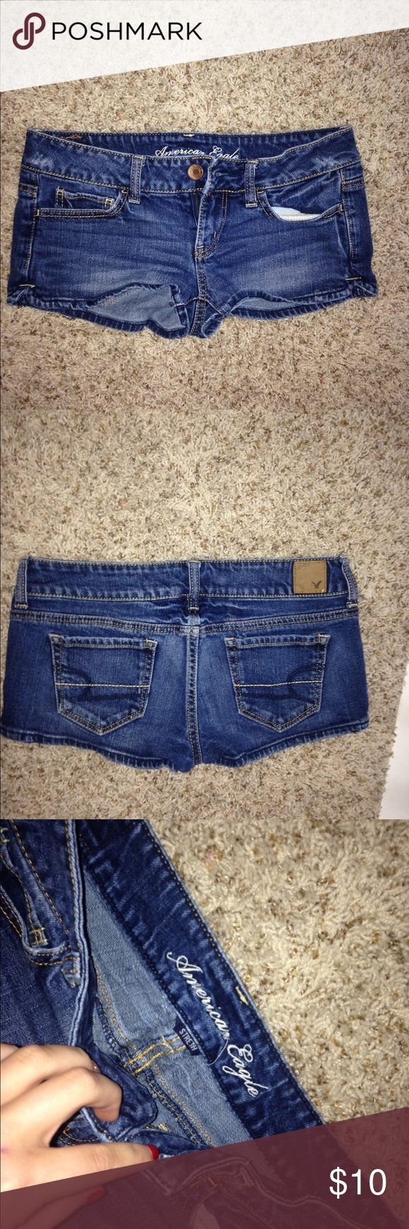 American eagle shorts American eagle jean shorts! Size:2 ! Great condition American Eagle Outfitters Shorts Jean Shorts