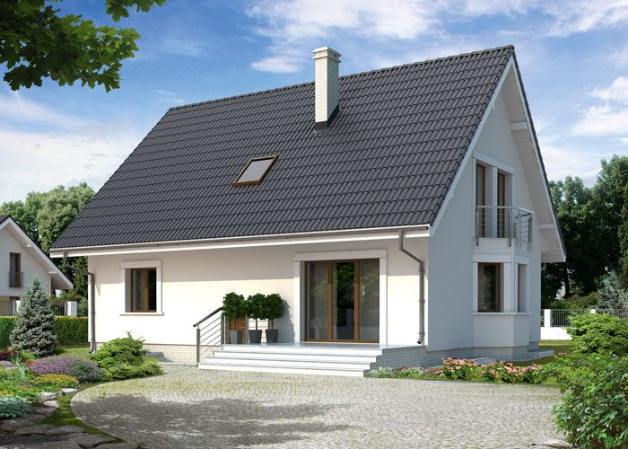Goździk Fot. MTM Styl #pięknydom #projektdomu #użytkowepoddasze Domowy https://www.domowy.pl/projekty-domow/wyniki-wyszukiwania/mtm-gozdzik.html?BOTId=13714