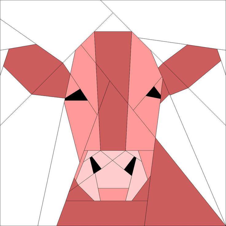 Cow Block | Quilting | Pinterest