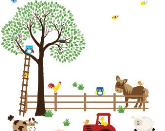 Childrens Wall Art best 25+ farm wall stickers ideas on pinterest | farm themed