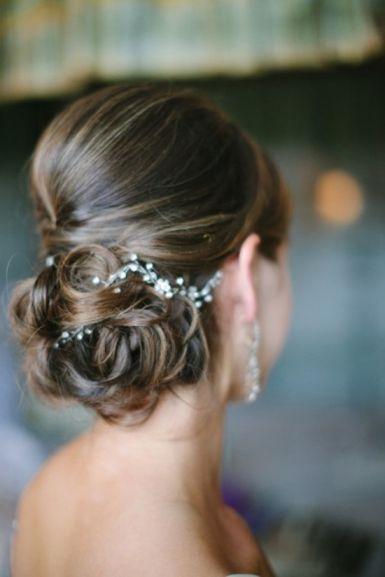 Bridal Updo with Vintage Crystal Details | Jodi Miller Photography
