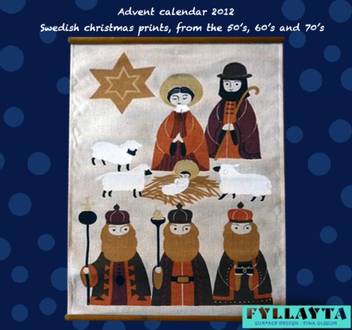Advent-day-23, by Toni-Hermansson. Christmas in perfect 70's style, using the the all time favorite color, brown!