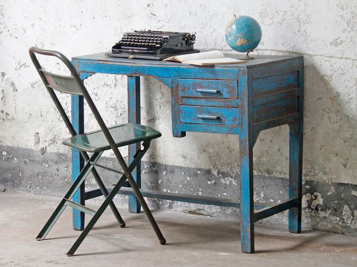 Vintage Writer's Desk from Scaramanga's unique collection of vintage furniture and interiors #homeinspo #furniture #paintedfurniture
