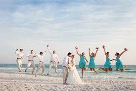 Fun Beach Wedding Photo