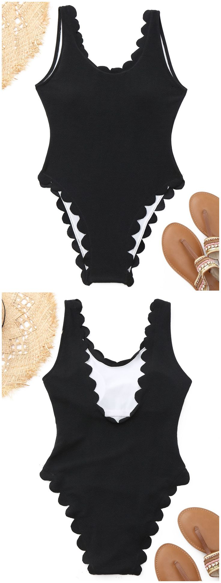 Up to 80% OFF! High Cut Scalloped One Piece Swimwear. #Zaful #swimwear Zaful, zaful bikinis, zaful dress, zaful swimwear, style, outfits,sweater, hoodies, women fashion, summer outfits, swimwear, bikinis, micro bikini, high waisted bikini, halter bikini, crochet bikini, one piece swimwear, tankini, bikini set, cover ups, bathing suit, swimsuits, summer fashion, summer outfits, Christmas, ugly Christmas, Thanksgiving, Gift, New Year Eve, New Year 2017. @zaful Extra 10% OFF Code:ZF2017