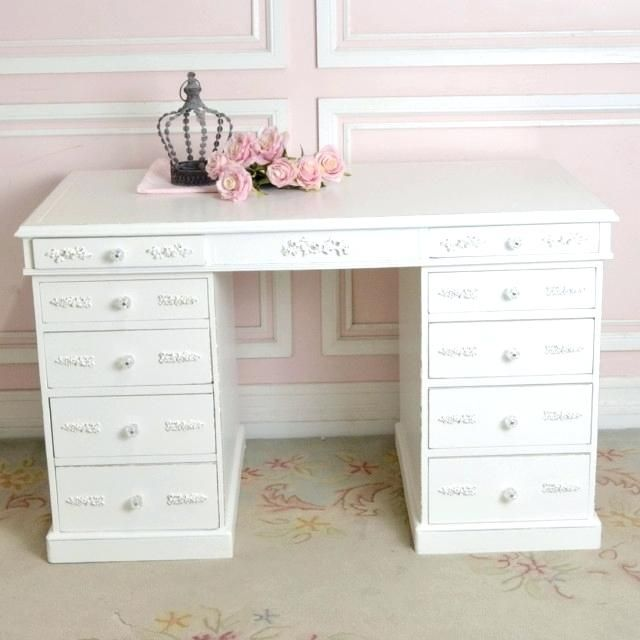 Fresh Desk With Drawers Both Sides Pictures Beautiful Desk With