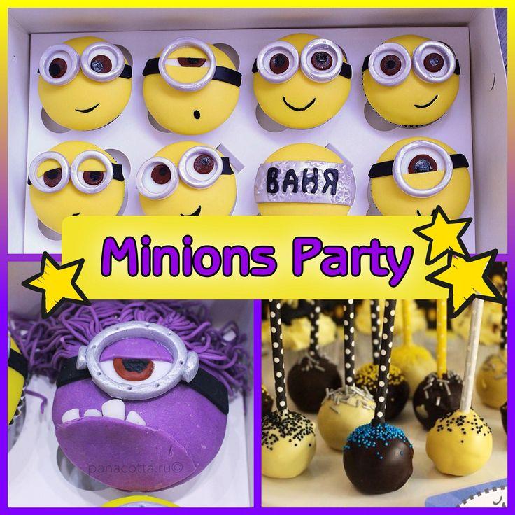 Minion Party #cupcake #cupcakeminion   Капкейки Миньон #капкейкиминьон #капкейки