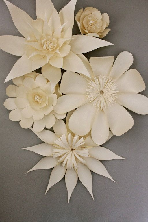 Add these on the walls of your venue for a WOW factor!  paper floral arrangement by balushka on Etsy, $250.00