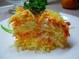 """Салат морковно-яблочный  Очень простой и очень-очень вкусный салат """"Французский""""."""