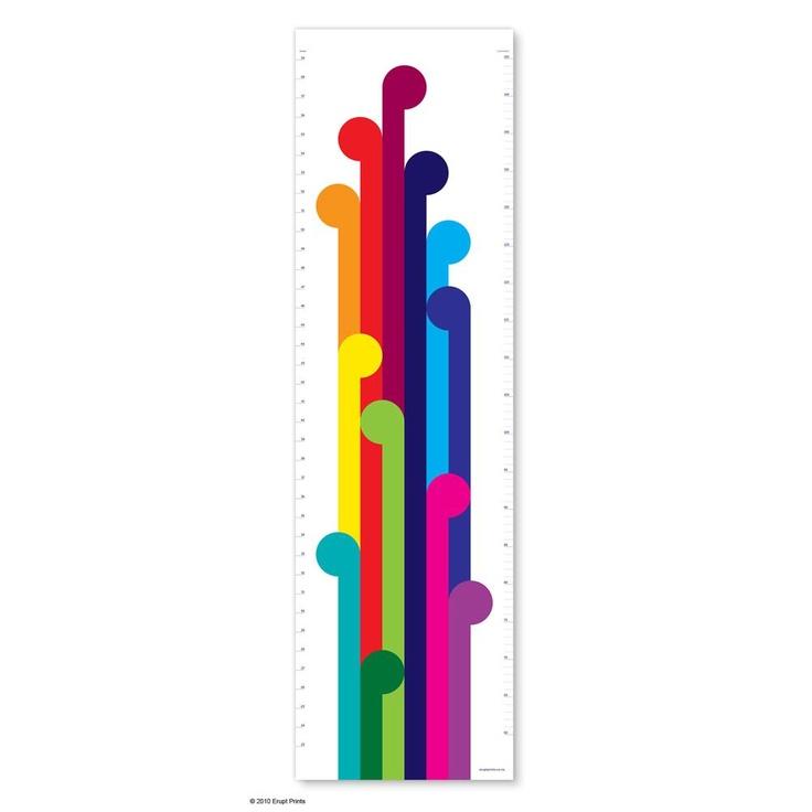 Koru Height Chart | NZ Art Prints & Poster Store | endemicworld.com