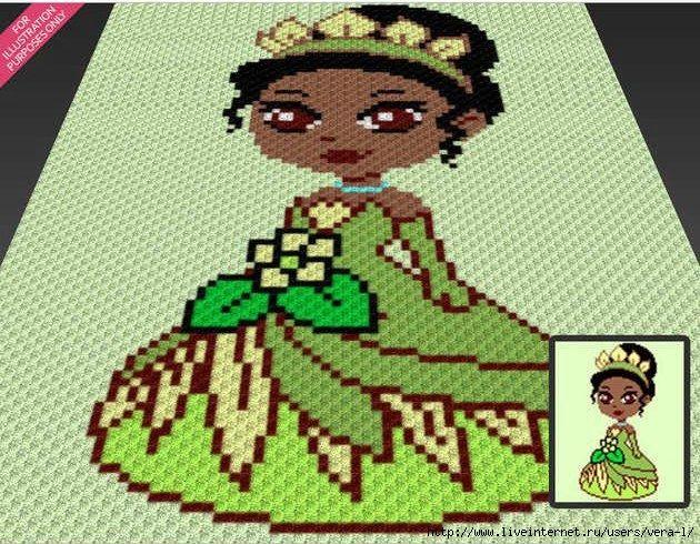Покрывало Принцесса Тиана (схема). Автор - Two Magic Pixels