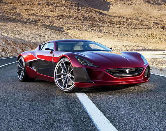 "Fastest electric car ever, the Rimac ""Concept One"" at just under a million Dollars each. My Friday's car"