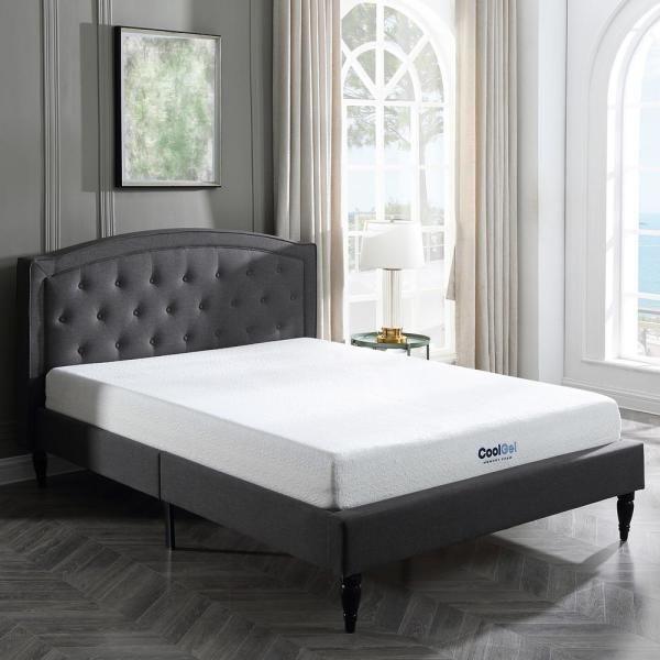 Sleep Options Cool Gel Twin Size 8 In Gel Memory Foam Mattress 410069 1110 The Home Depot Foam Sofa Bed Memory Foam Sofa Gel Memory Foam Mattress Sleep options memory foam mattress