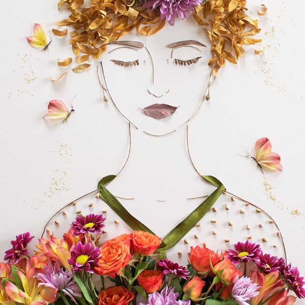 """Feed Your Soul"" Flower Face Print 