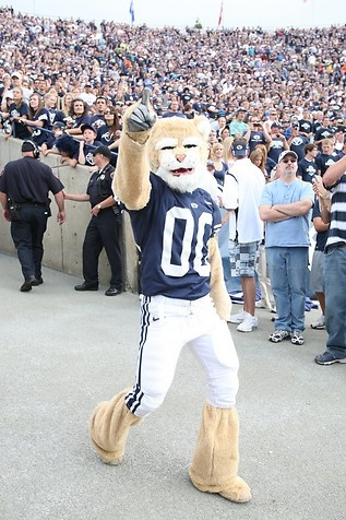 Cosmo, yeah that cool:)    http://www.nowpublic.com/sports/byu-mascot-cosmo