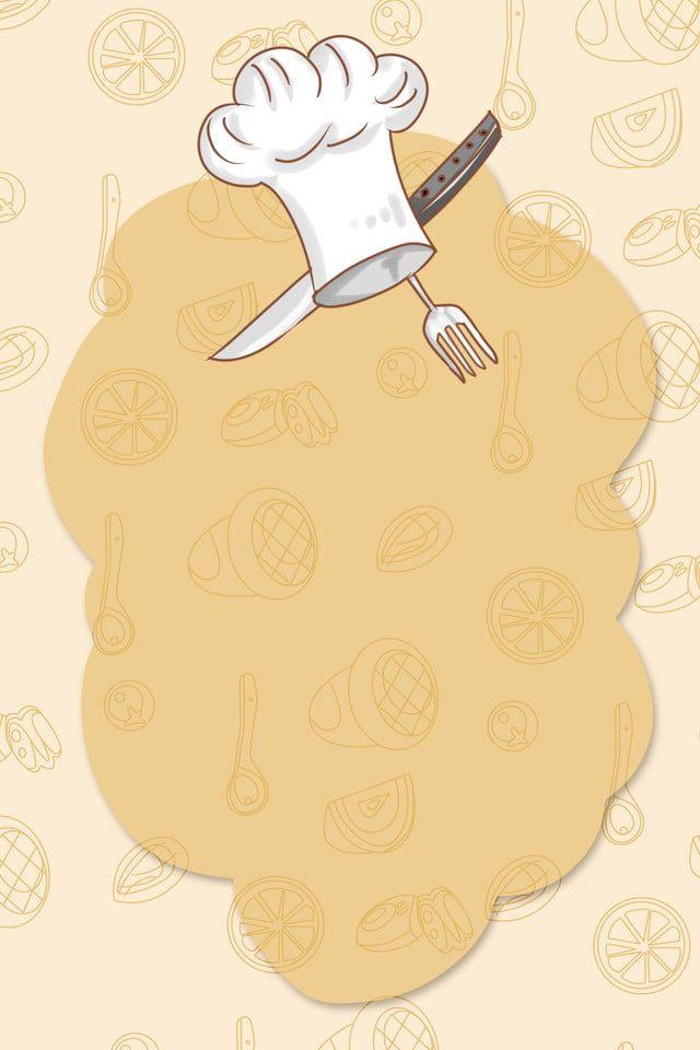 الكرتون مطعم الشيف التوظيف تصميم ملصق خلفية النواقل Food Graphic Design Food Background Wallpapers Food Logo Design Inspiration