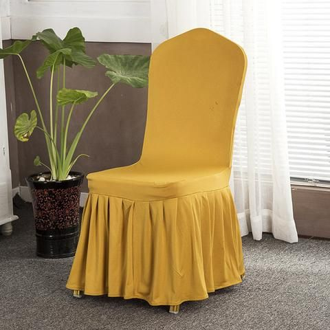 Solid Color Stretch Chair Covers  Dining Slipcovers Kitchen Ideas For Home Easy Cheap Spandex Design Elegant Fabric Simple Birthday Home Decor Ideas Decoration Shops Fabrics Fit Receptions Beautiful DIY Life Fun Accessories Modern Chic Awesome Pictures Interior Design For Sale Buy Online Shops Store Products Shopping Home improvement Housse Couverture de chaise Pas cher Achetez en ligne  USA Canada Australia France Brown Yellow