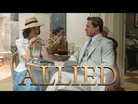 Marion Cotillard e Brad Pitt no trailer do filme 'Aliados' - Cinema BH