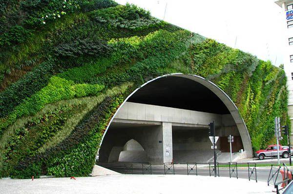 Vertical Garden in Paris, by Patrick Blanc