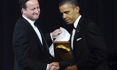 David Cameron with Barack Obama at a state dinner in Cameron's honour in 2012 at the White House. Photograph: Mandel Ngan/AFP/Getty Images