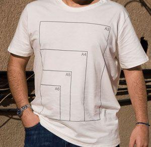 Camiseta DIN... Hubiese sido util en mi clase de dibujo tecnico xD