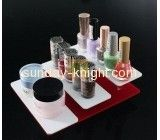 Hot selling acrylic makeup display desktop acrylic display stand counter display stand MDK-070