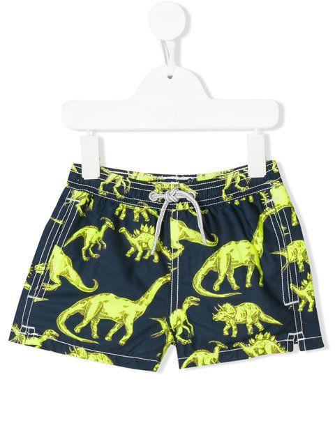 46b8d865f482b Shop Mc2 Saint Barth Kids dinosaur print swim shorts | SWIMWEAR ...