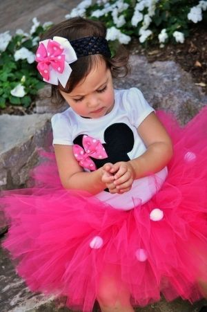 Minnie Mouse Birthday Tutu Outfit by ButtonsAndBritches on Etsy, $40.00