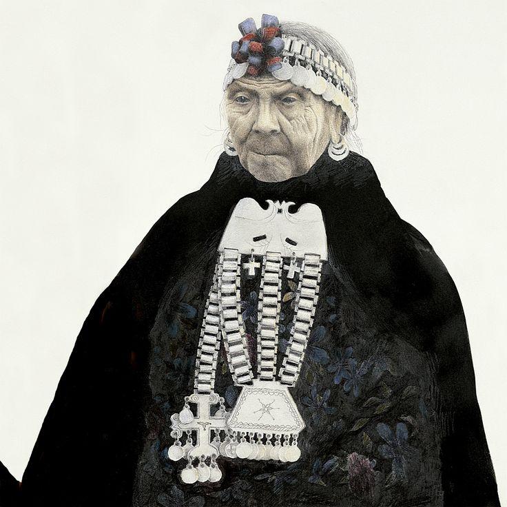 La platería de los mapuches Ilustración, José Pérez de Arce