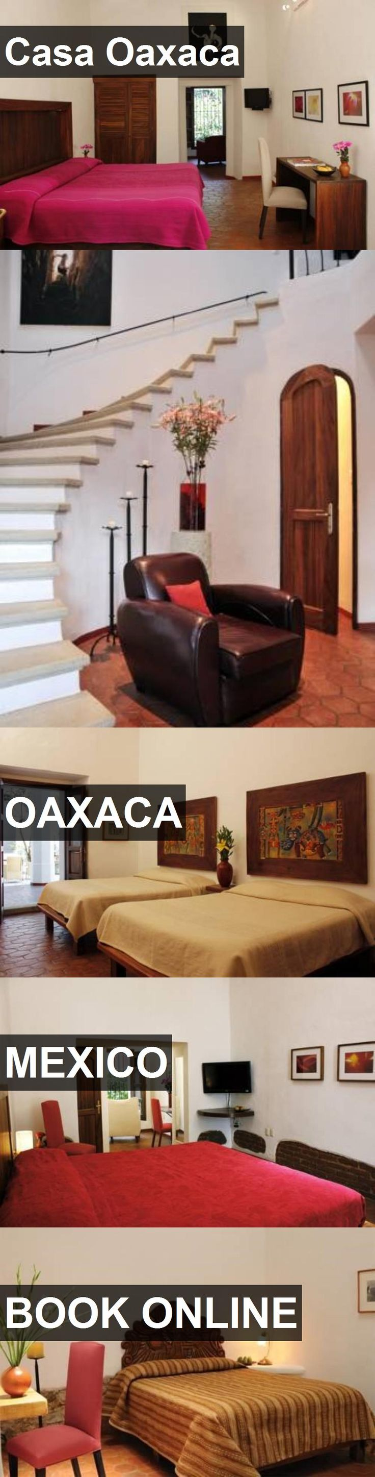Hotel Casa Oaxaca in Oaxaca, Mexico. For more information, photos, reviews and best prices please follow the link. #Mexico #Oaxaca #travel #vacation #hotel