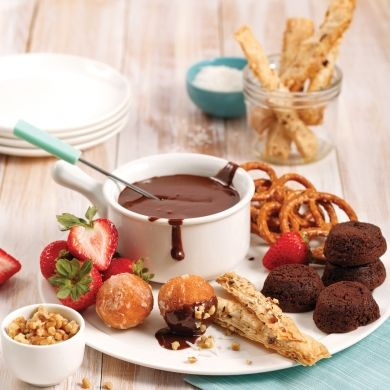 Fondue au chocolat - Desserts - Recettes 5-15 - Recettes express 5/15 - Pratico Pratique