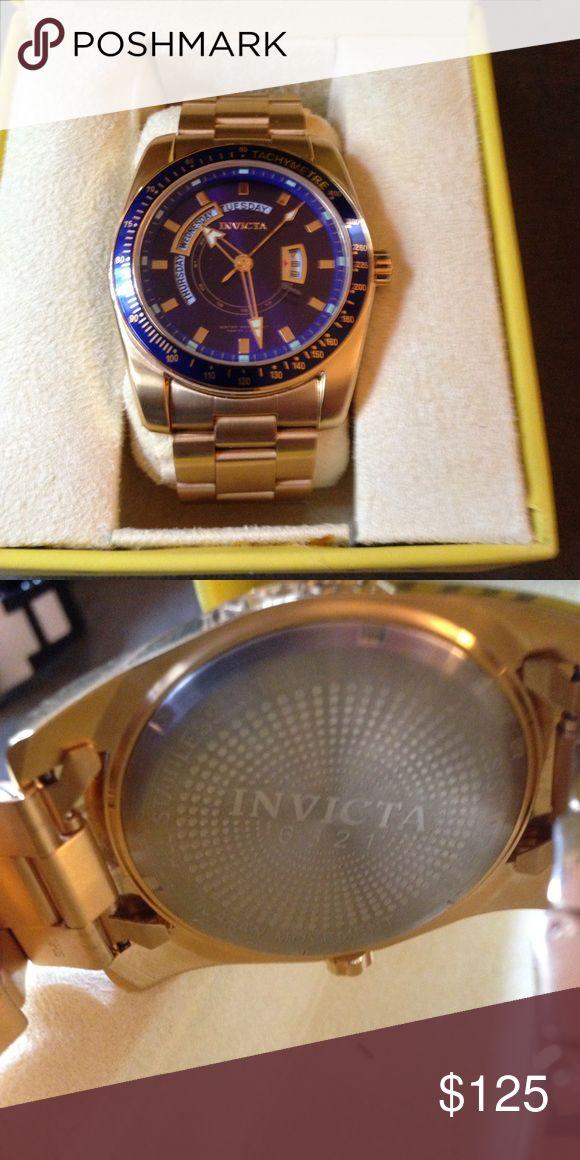 Men's invicta gold watch Stunning men's invicta watch. Model 6321. Accessories Watches