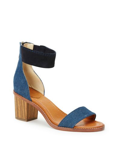 Shoes | Sandals | Brielle Back Zip Leather Sandals | Lord and Taylor