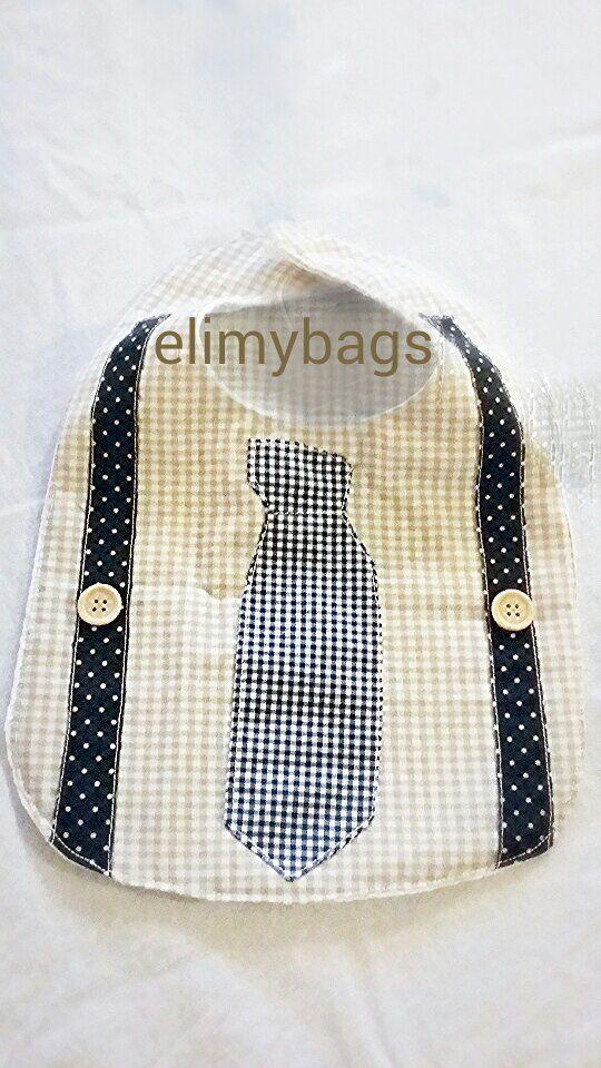 Bavaglino bambino con camicia cravatta e bretelle ♥, by Elimybags, 13,00 € su misshobby.com