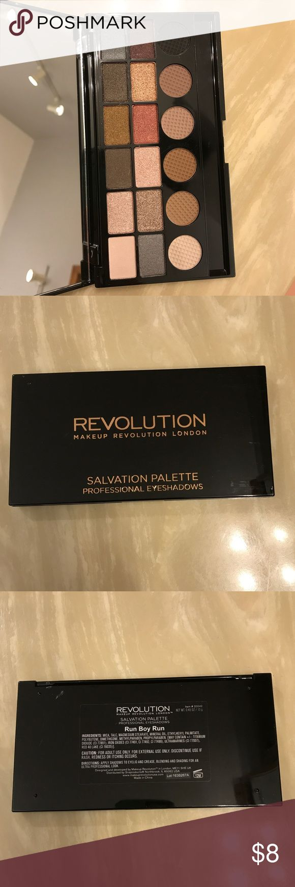 *NEW!!* Makeup Revolution eyeshadow palette! *BRAND NEW!* Makeup Revolution Salvation eyeshadow palette in 'Run Boy Run'. 12 beautiful shimmer eyeshadows and 6 perfect neutral mattes! Never swatched! No box Makeup Revolution Makeup Eyeshadow