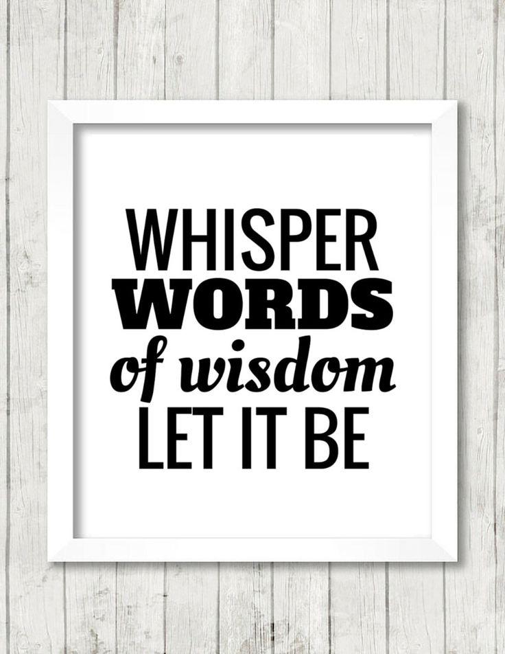 Lyric let it be the beatles lyrics : 125 best Bright & Bonny images on Pinterest | Typography art, Art ...