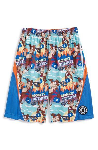 Boy's Flow Society 'Monkey Business' Lacrosse Shorts