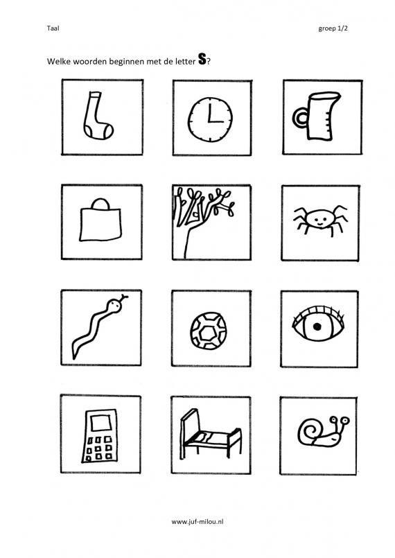 Citowerkbladen - taal - eerste en laatste letter ~ Juf Milou