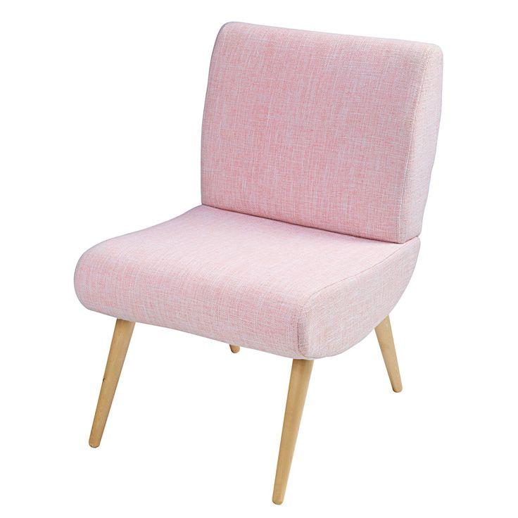 Vintage stoel van roze stof - Cosmos