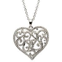 Shanore Heart Trinity Pendant Encrusted With White Swarovski Crystals