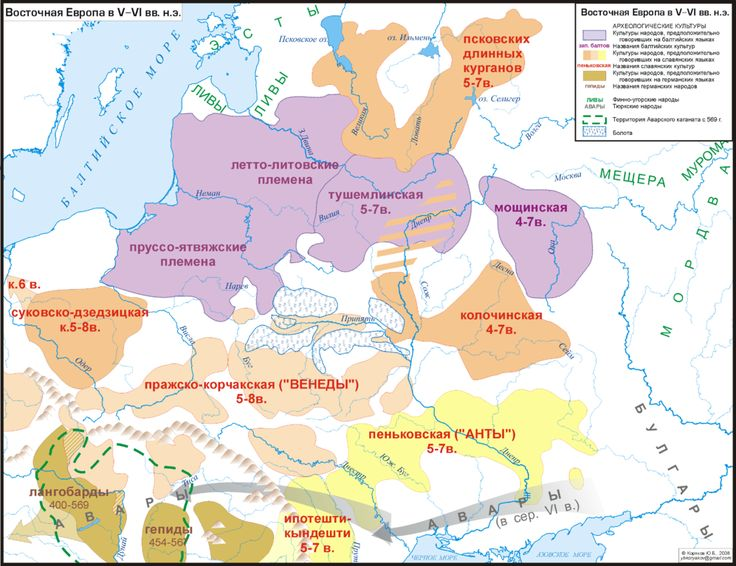 Map of the Baltic tribal cultures and others