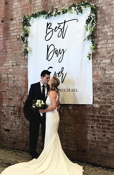 Best Day Ever Wedding Rustic Ceremony Backdrop In 2018 Weddings Pinterest Decorations And Flowers