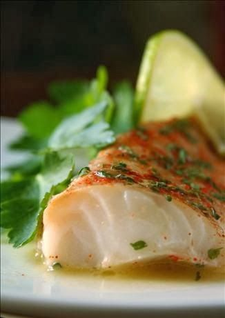 Chili, Lime & Cumin Cod - The fish was moist and flavourful, even without the sauce, but the sauce complimented it nicely,,