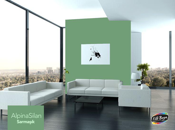 Baharın enerjisini yansıtan, yaşam dolu Sarmaşık rengini, açık renk mobilyalarla kombinleyerek etkileyici zıtlıklar yaratın.