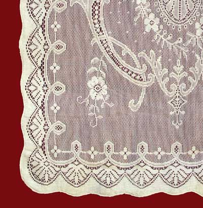Detail Of Rebecca Scottish Nottingham Lace Panels Curtainscotton