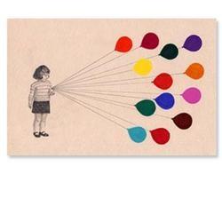 balloons: rainbow balloons