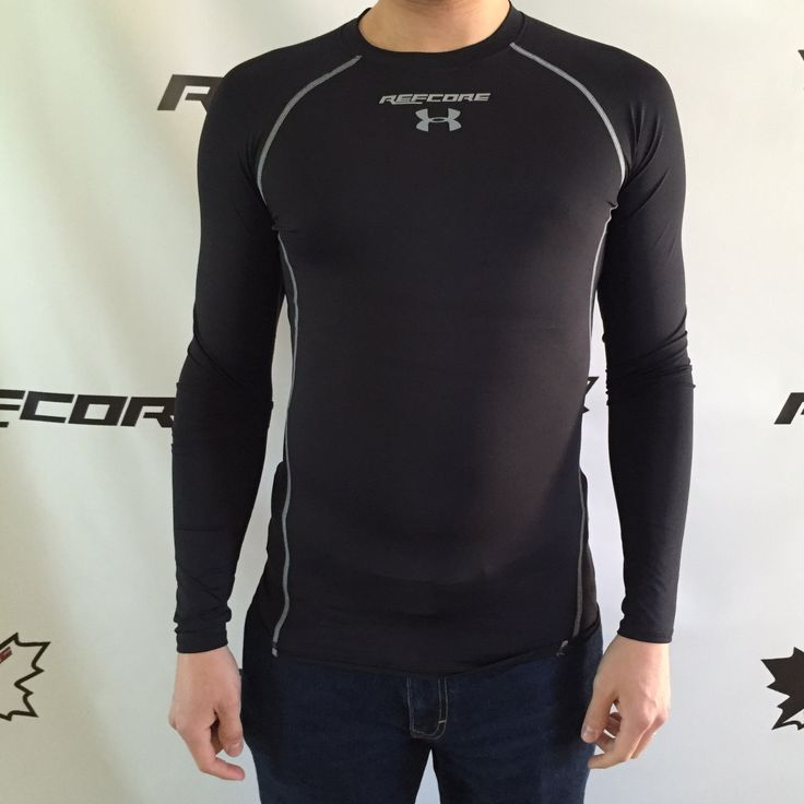 REFcore longsleeve compression shirt by Under Armour.  The perfect shirt for under your gear, when you're busting your balls on the ice.  Wicks moisture away from your body while keeping you cool and comfortable to last 3 periods and OT. Referee Apparel #refcore #referee #hockey #apparel #refereeapparel #underarmour #compressionshirt #workout #gear #refereegear #refereeequipment