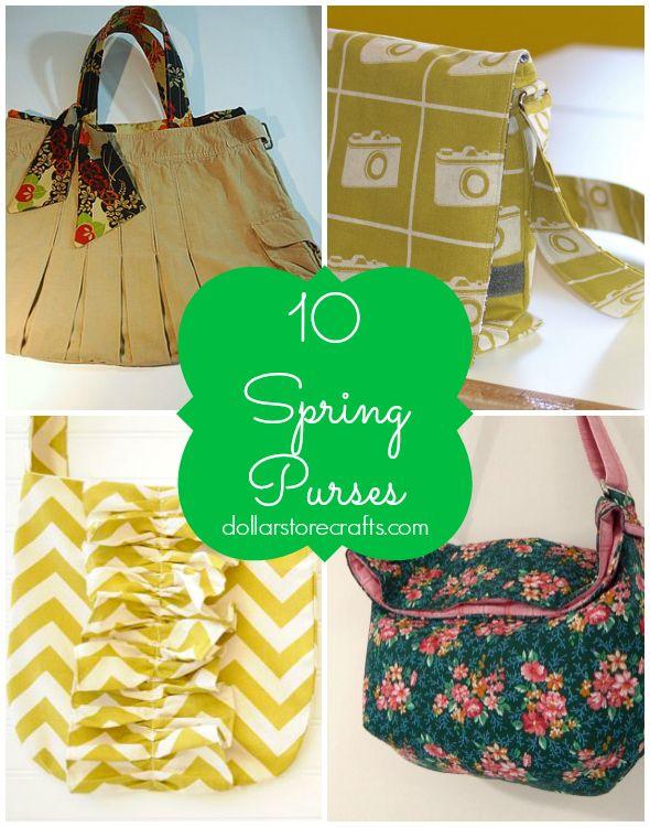 10 Spring Purse Tutorials